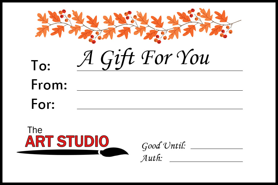 The Art Studio Gift Card